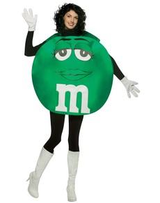 Faschingskostüm M&M's grün