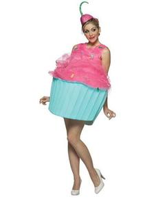 Cupcake Kostüm für Damen Süßes Törtchen